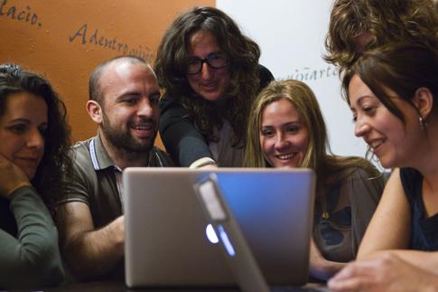 Algunos de los profesionales que conforman Más Público-  Foto de Ángel Navarrete/Mónica Patxot